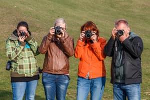 Fotokurse Wien - Teilnehmer in Action