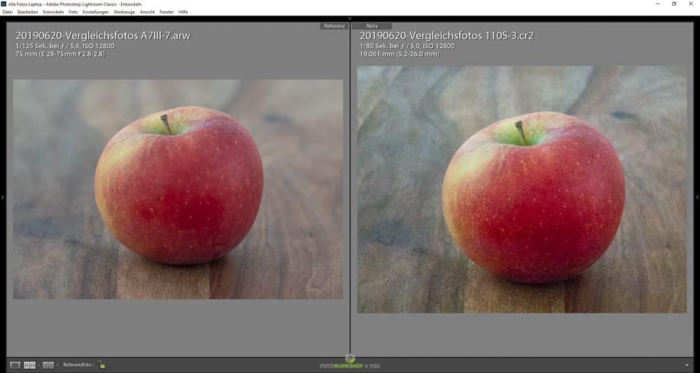 Tipps zum Kamerakauf - Vergleich Isowerte