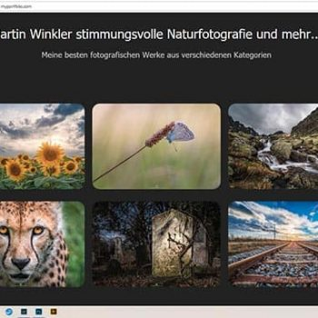 Screenshot Portfoliopage